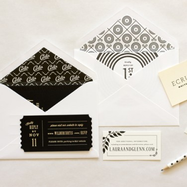 Black &#038; Ivory: Vera Wang + MaeMae Paperie