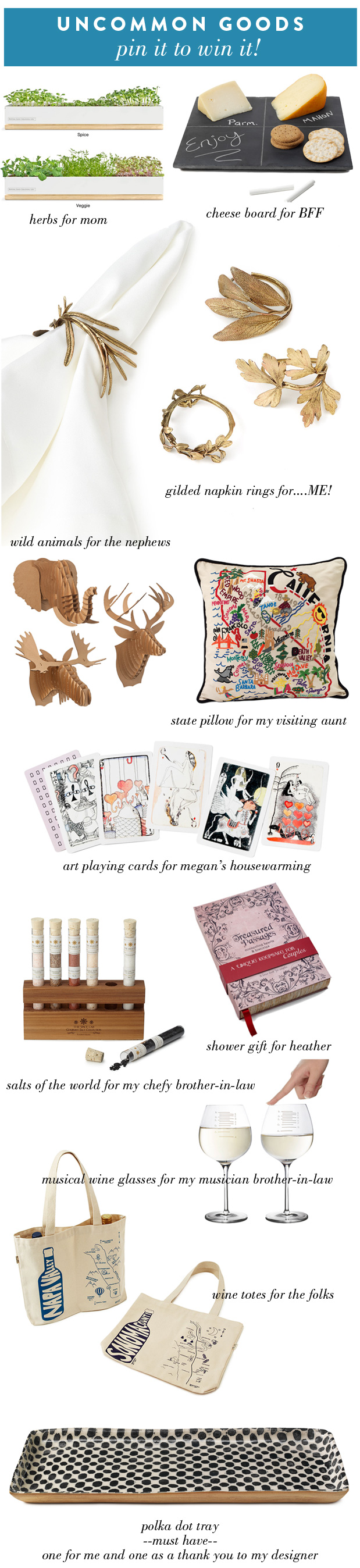 Wedding Blog Uncommon Goods: Pin it to Win it!