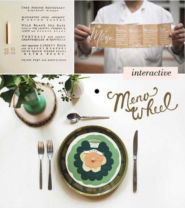 Wedding Blog Menu Round Up