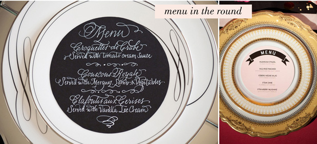 Wedding Blog Menu Round Up