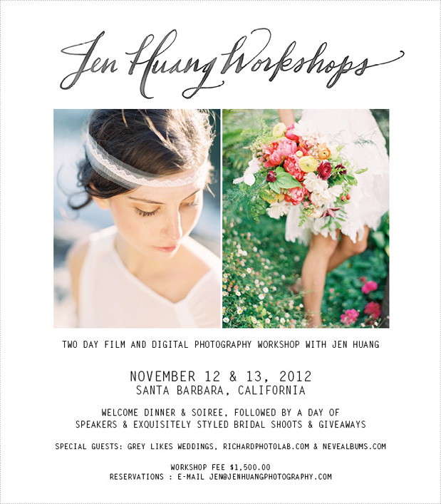 Wedding Blog Jen Huang Sonoma Workshop