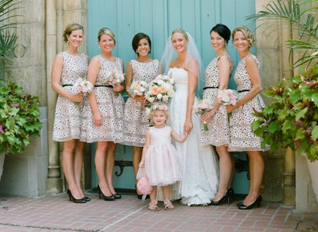 Bridesmaid Dresses with Polka Dots