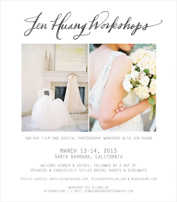 Wedding Blog Jen Huang Montecito Workshop