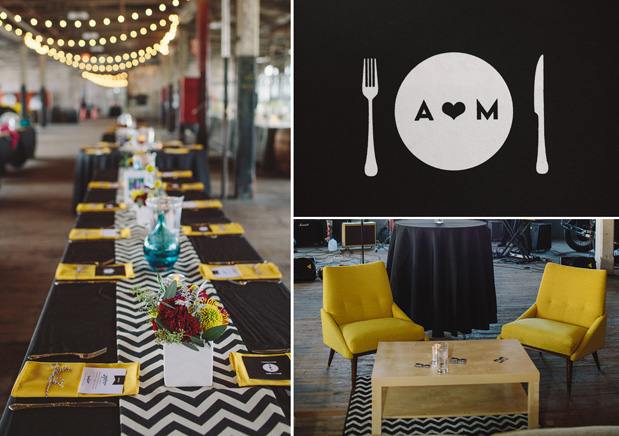 Wedding Blog Modern Graphic Loft Wedding