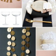 Stripes, Gold, and Blush!