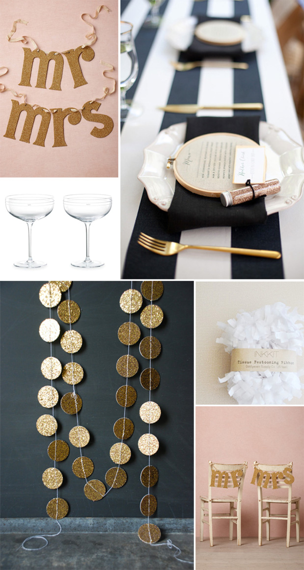 Wedding Blog Stripes, Gold, and Blush!