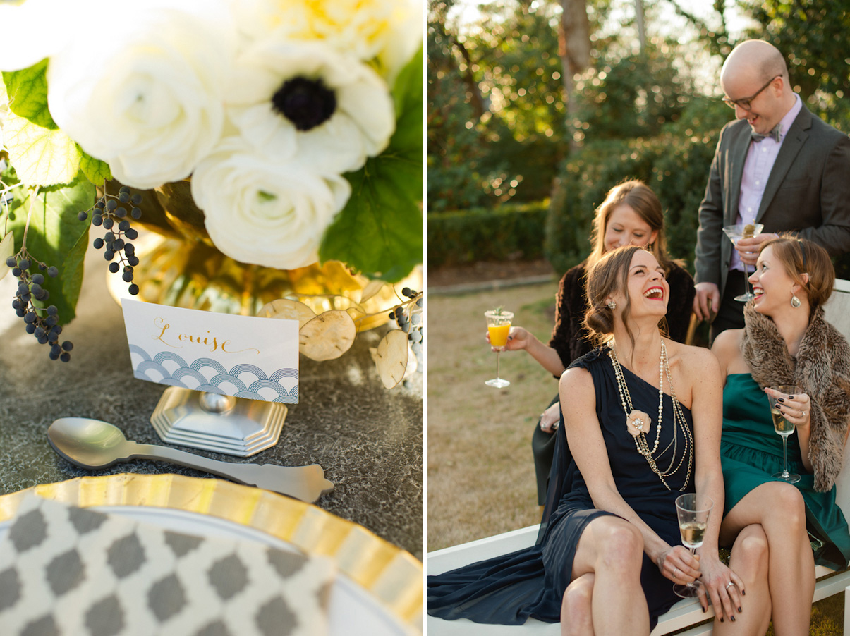 Wedding Blog Poolside Art Deco Fete