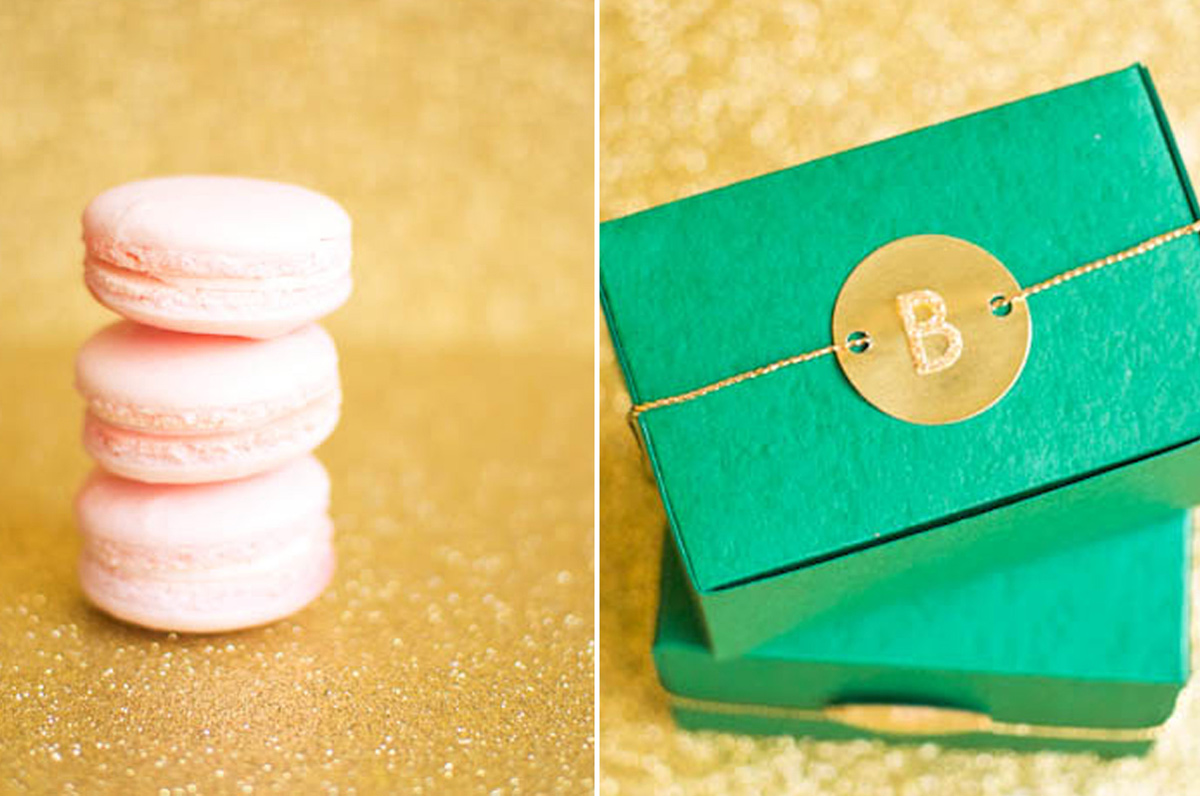 Wedding Blog Emerald and Gold DIY Favors