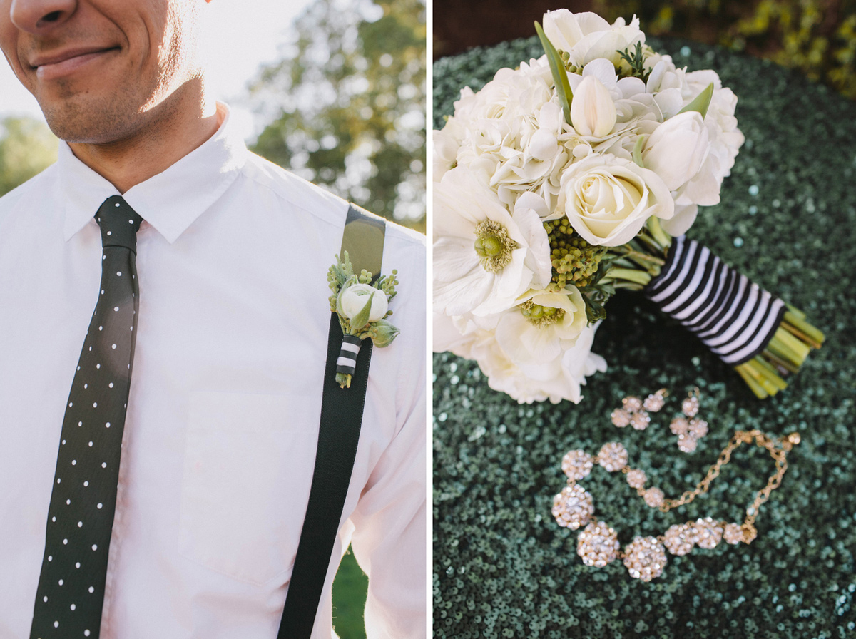 kate_spade_emerald_gold_wedding_stripes_polka_dots_11