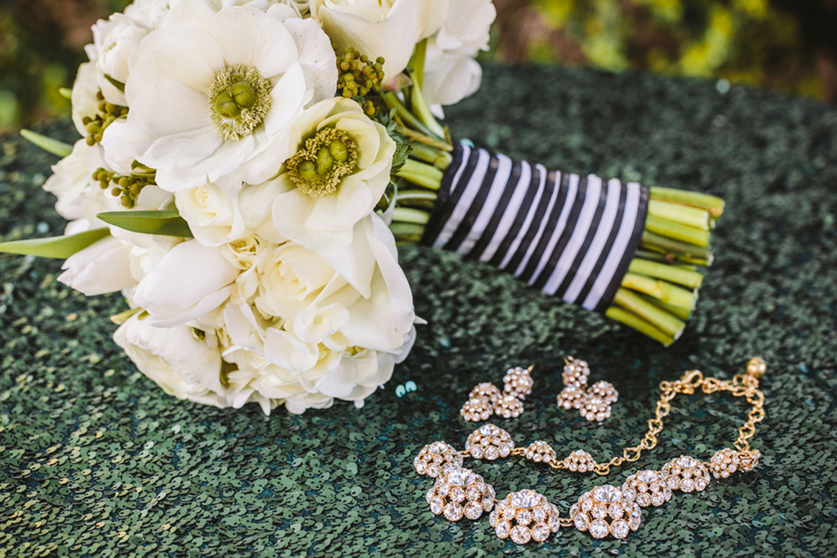 kate_spade_emerald_gold_wedding_stripes_polka_dots_3