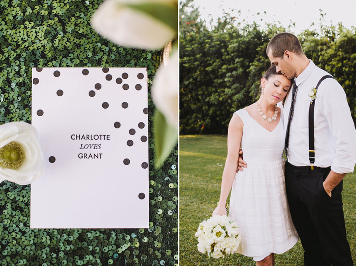 kate_spade_emerald_gold_wedding_stripes_polka_dots_6