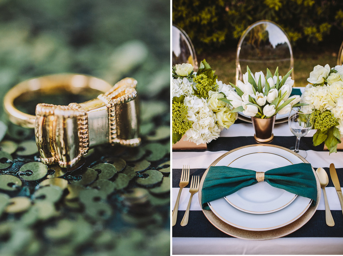 kate_spade_emerald_gold_wedding_stripes_polka_dots_9