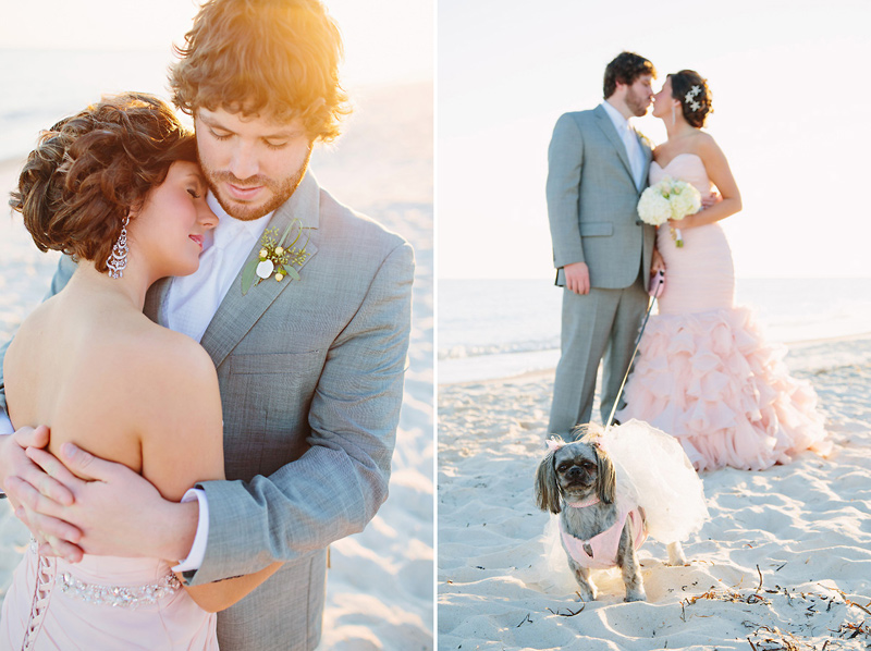 Wedding Blog Blush Wedding Dress on the Beach