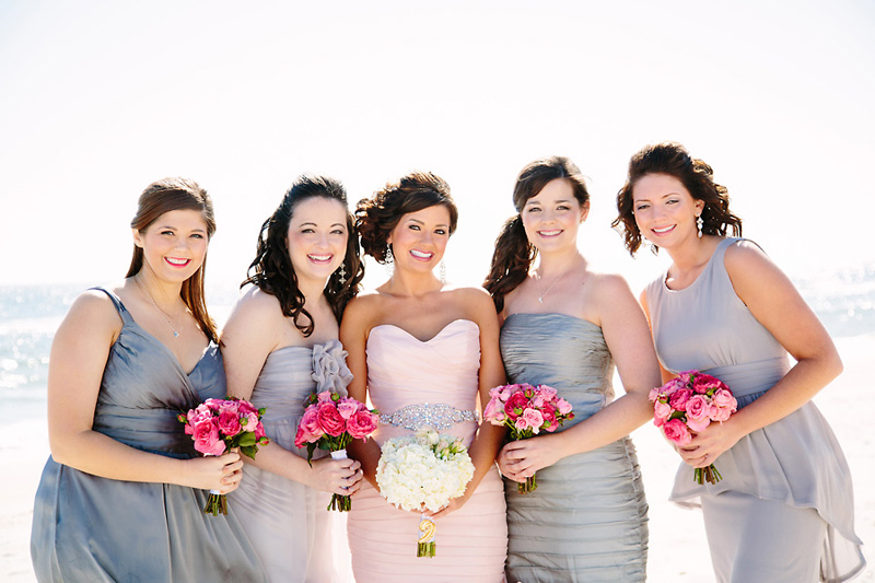 Blush Wedding Dress Grey Bridesmaids : Blush wedding dress weddingbee