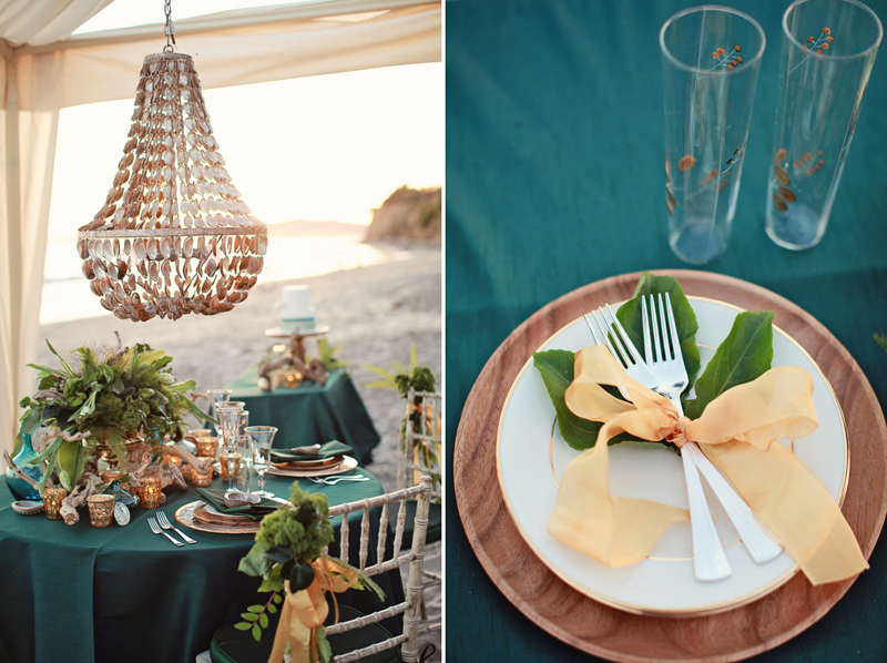 pantone_emerald_gold_beach_wedding_shoot_1