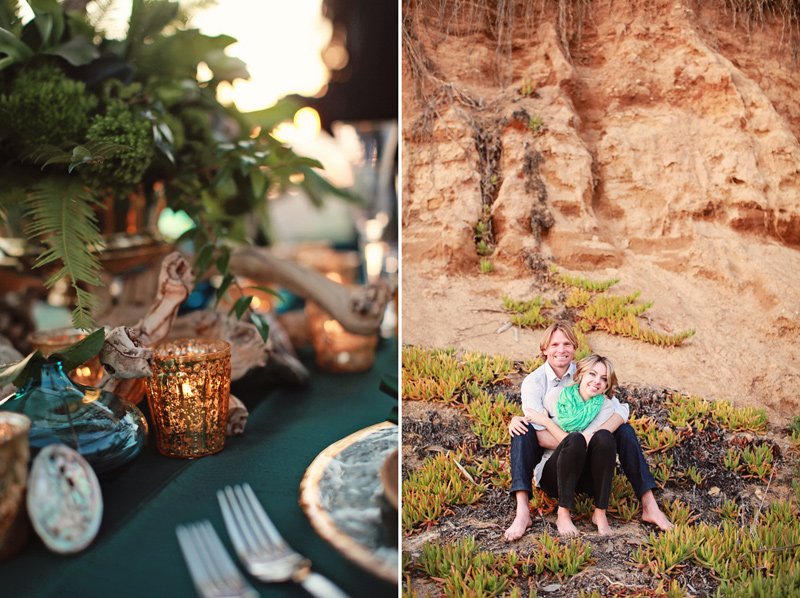 pantone_emerald_gold_beach_wedding_shoot_5