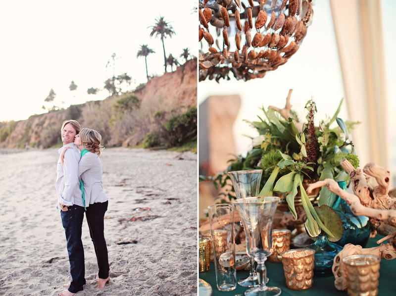 pantone_emerald_gold_beach_wedding_shoot_7