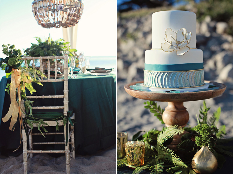 pantone_emerald_gold_beach_wedding_shoot_9