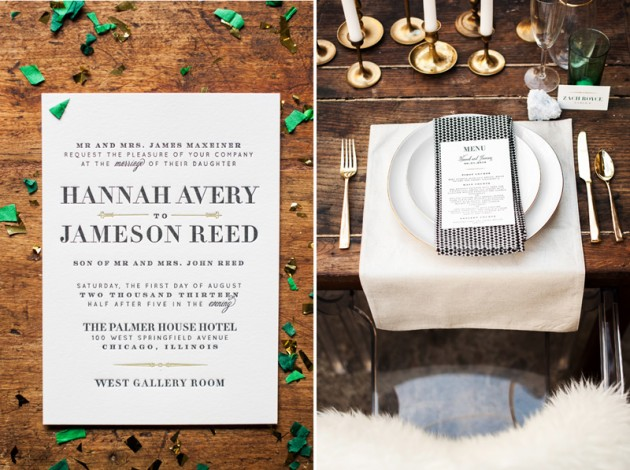 Wedding Blog Art Deco Inspired Wedding