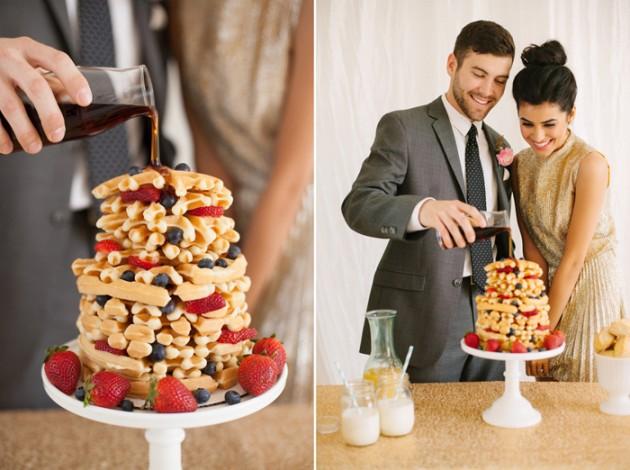 brunch_elopement_shoot_gold_sequins_waffle_wedding_cake_8