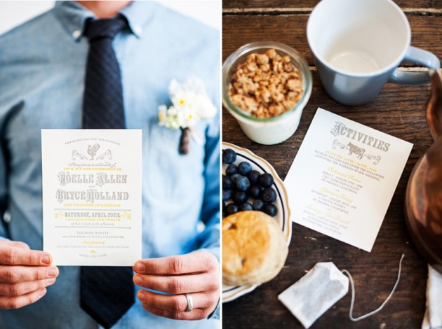 Wedding Blog Goldenrod and Blueberries