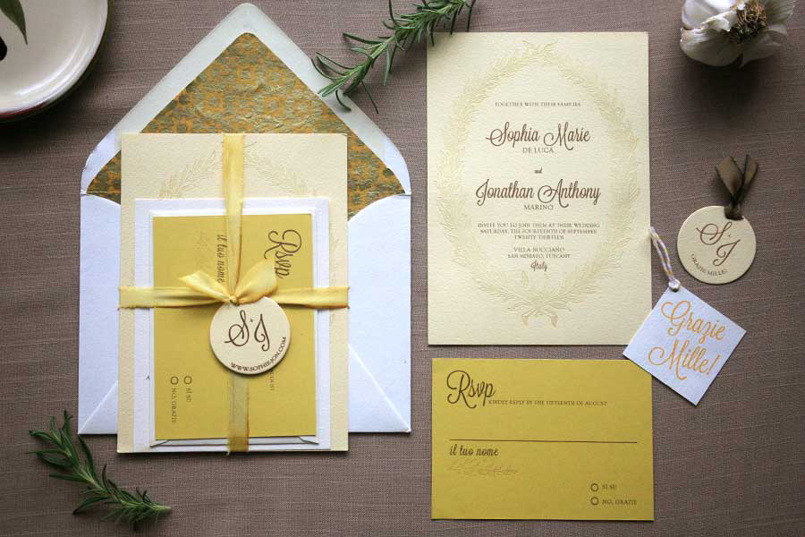 Wedding Blog Foglio Press Stationery