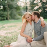 Spring Blossom Engagement Session (on FILM!)