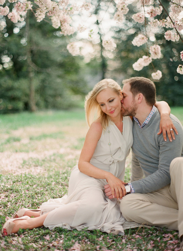Wedding Blog Spring Blossom Engagement Session (on FILM!)