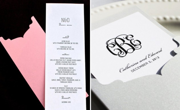 Wedding Blog Menu Card Giveaway