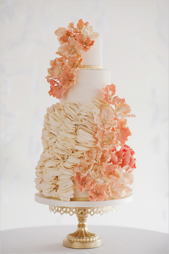 peach-gold-and-white-wedding-cake