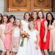 Coral and Blush Ranch Wedding