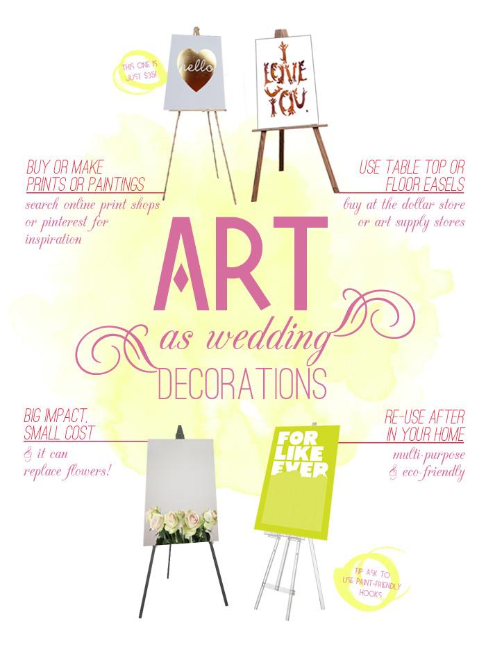 art as wedding decoration