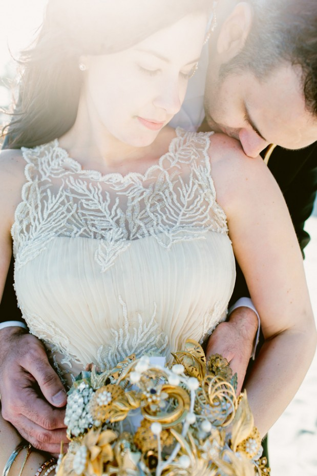 Beach-&-Bar-Wedding-by-Kelly-Sauer-gold_brooch_bouquet_1.jpg23