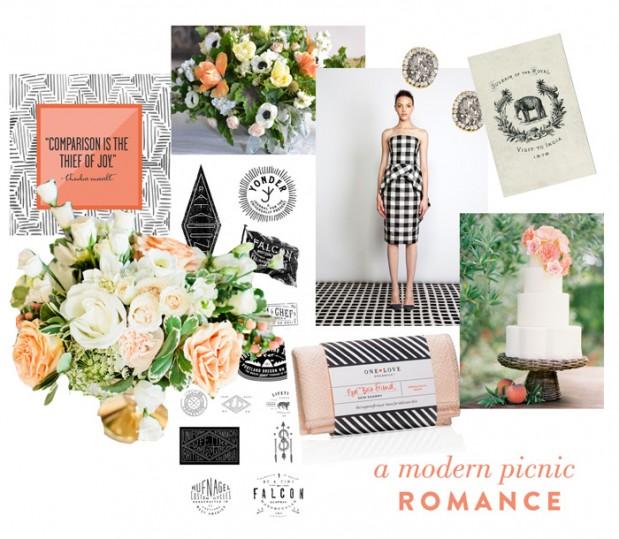 Wedding Blog Modern Picnic Romance