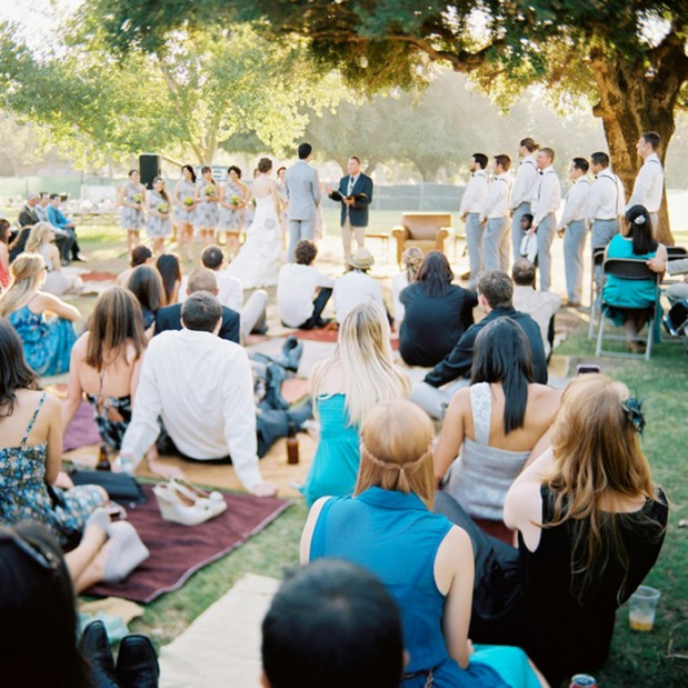 Ceremony Seating Reception: Summertime Gypsy Picnic Wedding