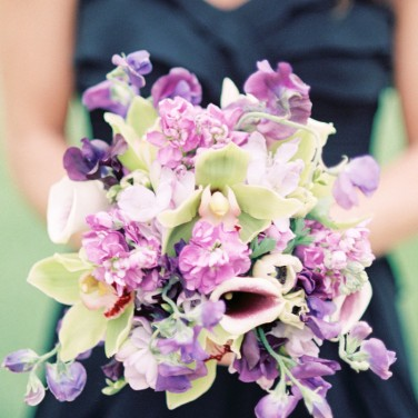 Purple and Black Wedding by Lisa Dolan