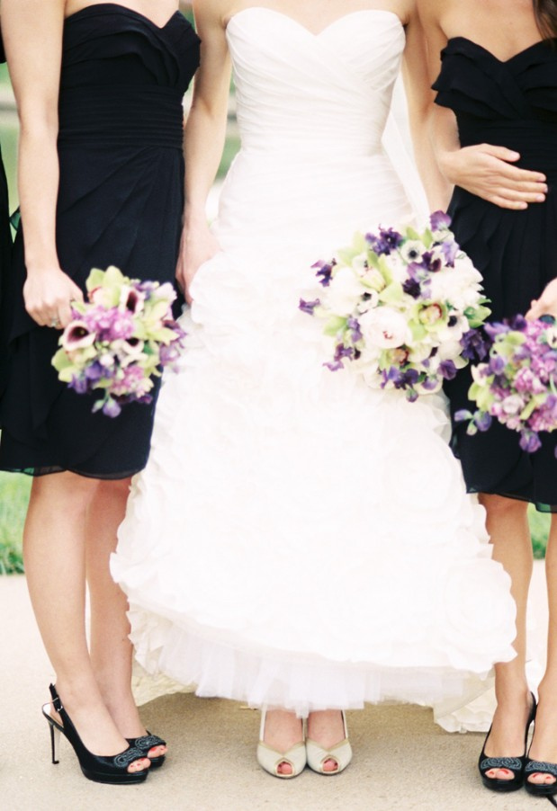 Wedding Blog Purple and Black Wedding by Lisa Dolan