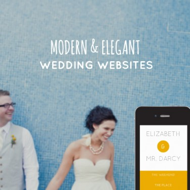 Modern Wedding Websites by Sitting in a Tree