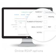 Modern Wedding Websites by Sitting in a Tree