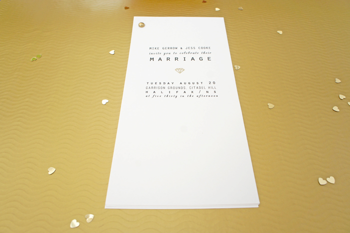 gold wedding stationery