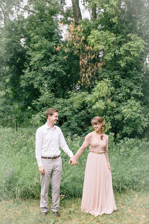 rustic_woodsy_green_wedding_blush_dress_1