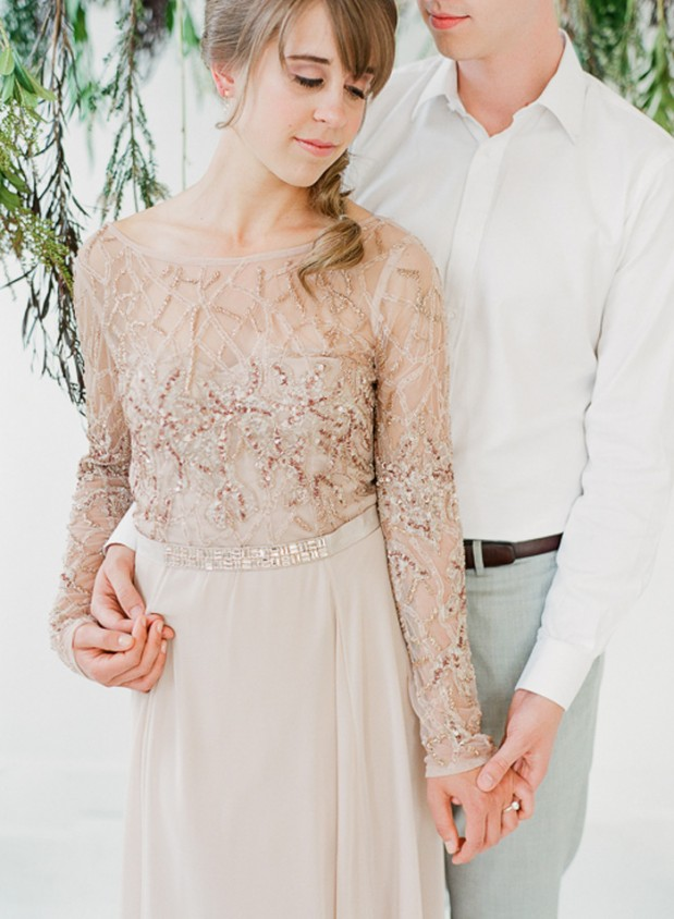rustic_woodsy_green_wedding_blush_dress_11