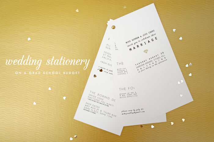 budget wedding stationery