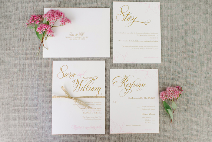 Wedding Blog Blush and Metallic Romance