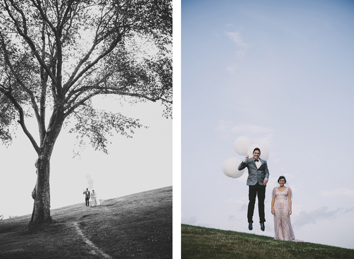 wedding balloon photo