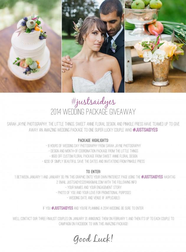Wedding Blog Just Said Yes Wedding Giveaway