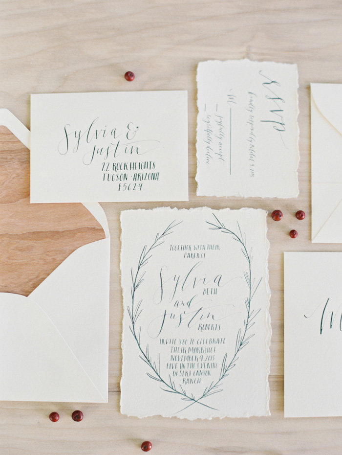 canyon-desert-white-green-wedding-ideas-calligraphy-stationery-invite-1