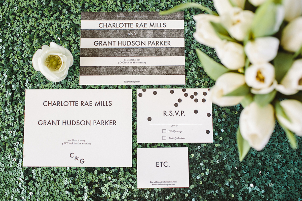 kate_spade_emerald_gold_wedding_stripes_polka_dots_1