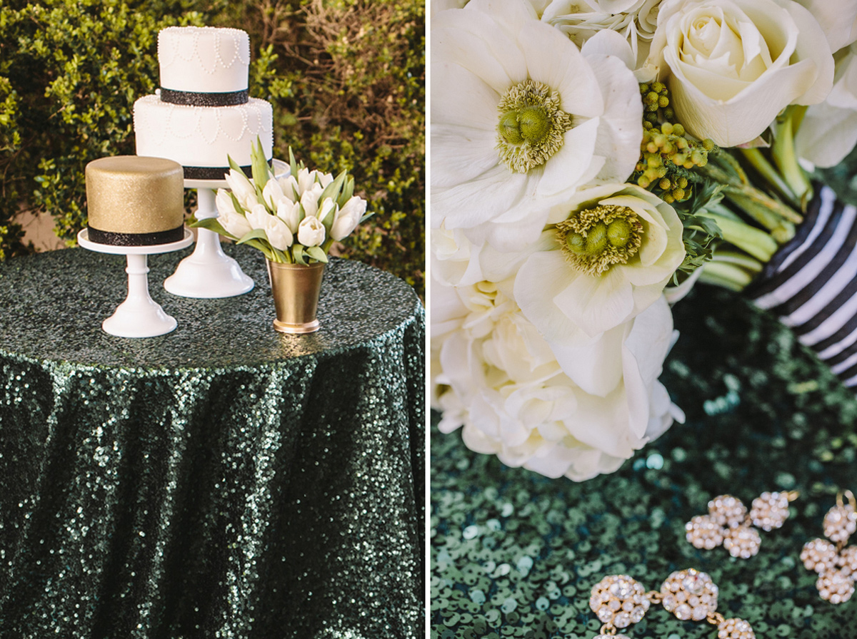 kate_spade_emerald_gold_wedding_stripes_polka_dots_4