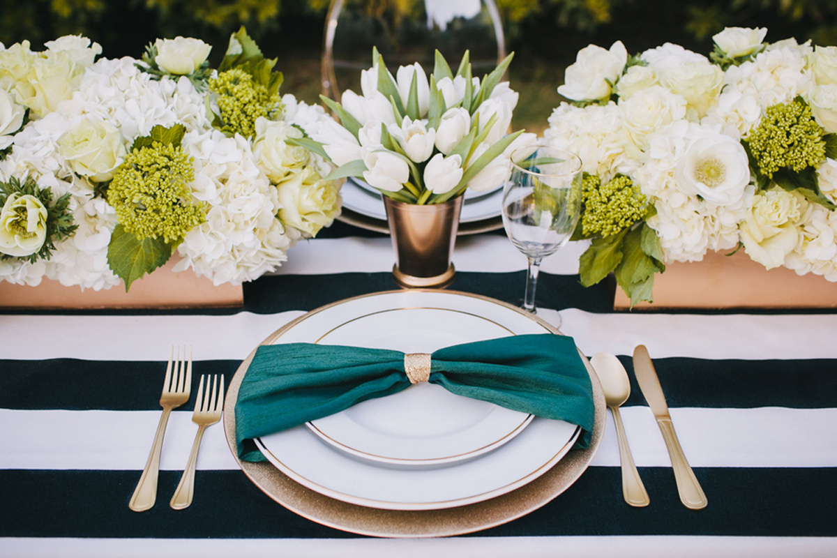 kate_spade_emerald_gold_wedding_stripes_polka_dots_5